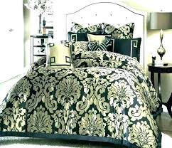 damask bedding sets set queen comforter black and white small size quilt cover king silver tesco