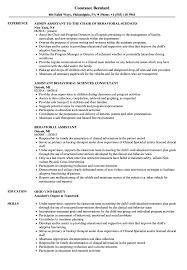Activity Assistant Job Description For Resume Behavioral Assistant Resume Samples Velvet Jobs 48