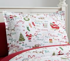 Twas the Night Before Christmas Flannel Standard Sham | Pottery ... & Twas the Night Before Christmas Flannel Standard Sham Adamdwight.com