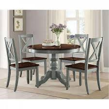nook dining table set farmhouse 5 piece rustic round room kitchen chairs wood
