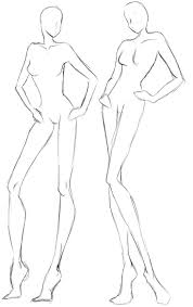 Template Female Body Outline Template Design By Fashion Templates