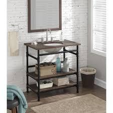 open shelf vanity. Simple Open 36inch Industrial Open Shelf Vanity Intended U
