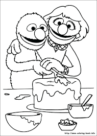 Sesame Street Coloring Pages On Last Updated August Birthday