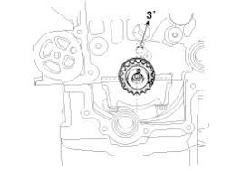 hyundai accent installation timing chain repair procedures dowel pin of crankshaft should be positioned at 3° in relation to vertical center line
