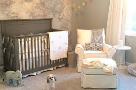 Jamie Curtis designed a gray-and-white baby nursery for her newborn son.