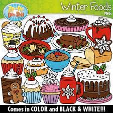 Winter Foods Clipart Set Tpt