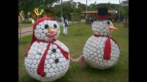 Christmas Decorations Made Out Of Plastic Bottles Appealing image of decorative DIY round white plastic bottle lid 84