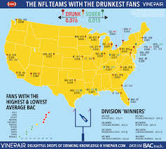 Ranked The Teams With The Drunkest Fans In The Nfl Map