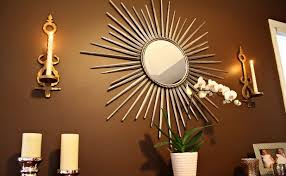 decorating exotic mirror sconces wall decor in antique gold and