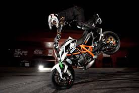 rok bagoro s new ktm 690 duke stunt bike asphalt rubber