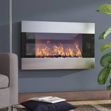 two sided electric fireplace new wade logan clairevale wall mounted electric fireplace reviews