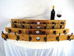 Wine Barrel Stave Coat Rack Wine Barrel Coat Rack made from Napa Valley Barrels and 100 46