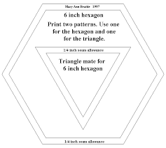 Patternpieces for 6 inch hexagon and companion triangle... | Hexes ... & Kaleidoscope quilt Adamdwight.com
