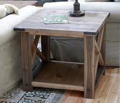 how to build rustic furniture. Build A Rustic X End Table From 2x4s And Lumber! Free Easy Step By Plans Ana-white.com How To Furniture T
