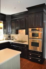 black kitchen cabinets ideas. Elegant Black Kitchen Cabinets With Brown Floor Cool Decorating Ideas C