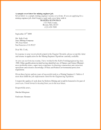 Ideas Collection Sample Cover Letters For Mining Jobs With 6 Job