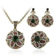 Women Gift Fashion Jewellery Set Vintage Silver Plated ... - Vova