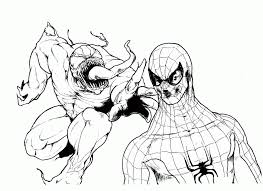 Small Picture Spiderman Vs Venom Coloring Pages Coloring Home