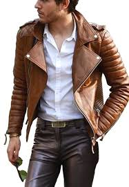 new handmade men unique quilted style leather jacket lederjacke veste de cuir