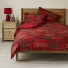image of duvet cover red home