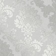 Quartz Damask Silver Glitter Wallpaper Silver Glitter Wallpaper