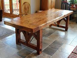 chair dining room tables rustic chairs: reclaimed wood trestle dining table rustic dining tables other