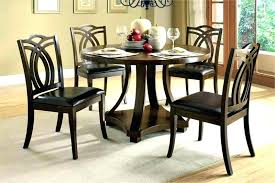 40s style kitchen table 36 x 40 inch round and chairs breakfast for 4 home black dining with magnificent fine ro