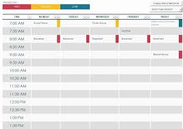 free schedule builder college organizer planner u2013 free printable links in 2018