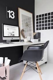 home office magazine. contemporary home office with retro black chalkboard texture postit notes tjena magazine file o