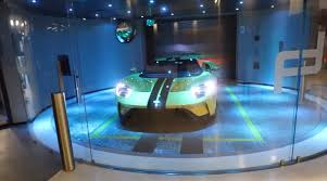 Porsche Design Tower Elevator Ford Gt Rides Up Elevator To 32 Million Condo In Porsche Tower
