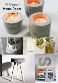 Have you been tempted to try a concrete DIY project? Here are 16  inspirational ideas