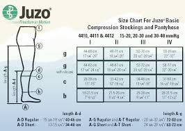 Compression Socks Chart Juzo Basic Ribbed Compression Socks 4202ad 30 40mmhg