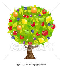 fruit tree clipart. Delighful Fruit Fruit Tree On Clipart GoGraph