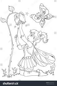 Small Picture Vertical Coloring Page Cute Girl Elf Stock Illustration 565624192