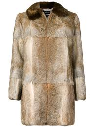 a p c zip up fur coat womens clothings a fur collar and a front zip fastening wixvoib 12344757