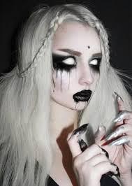 demons white eye makeup for halloween