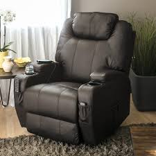 recliner chair with cup holder executive swivel massage w control 5 heat modes