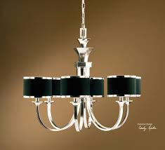 chandeliers with black shades jet crystal chandelier traditional