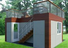 backyard office plans. Office Backyard With Roof Deck Free Plans L