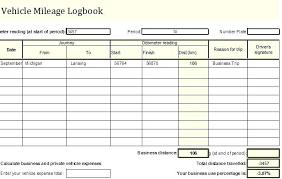 Mileage Log Sheet Printable Mileage Log Template Mileage Log Forms