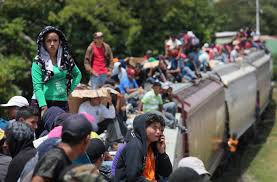 explaining the surge of child migrants from central america pbs central american immigrants ride north atop a freight train known as la bestia