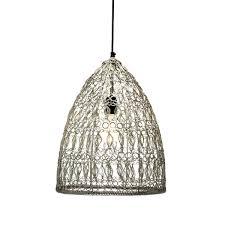 Wire Pendant Light Crochet Wire Pendant Lamp Pendant Lamp Handmade Metal Wire