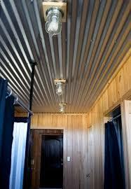 corrugated steel basement ceiling