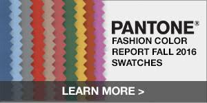 Fashion Colour Chart Fall 2016 Pantone Fashion Color Report