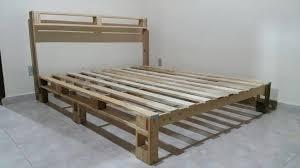 Rustic Wood Pallet Bed Frame