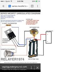 wiring diagrams parallel and series vape mod diy enthusiasts rh okdrywall co unregulated box mod dual