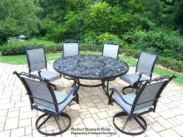 dining patio set ideas dining patio sets for adorable round patio dining sets for 6 cascade dining patio set