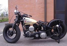 1948 harley davidson u model flathead bobber motorcycle by gianni