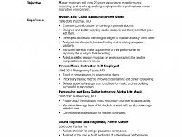 Music Teacher Resume Format Format For A Pics Examples Resume