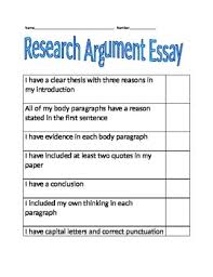 argument essay checklist for students to self check by kayla busser argument essay checklist for students to self check